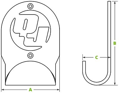 QuickJack wall hangers specifications diagram