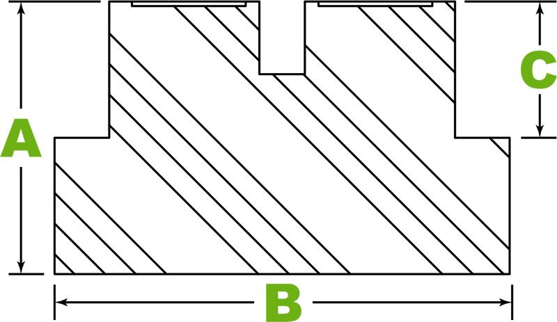 Round pinch-weld puck spec diagram